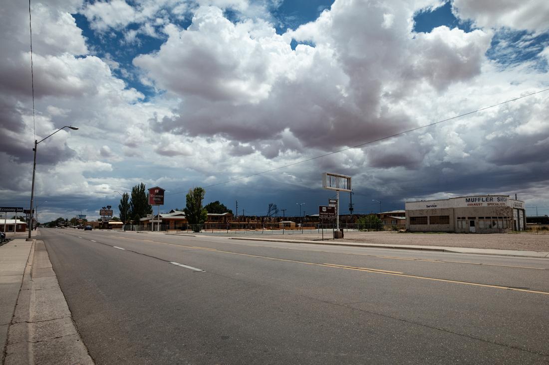 Dark Clouds over Highway 66
